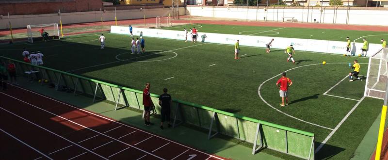 Partido de la selección española de fútbol ciegos. Fuente: AD