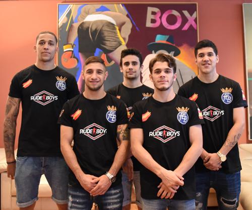 De izquierda a derecha: Alejandro Camacho, Samuel Carmona, José Quiles, Gabriel Escolar y Johan Orozco. Fuente: CSD
