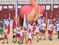 La bandera de los Juegos Mundiales de Trasplantados ya ondea en Málaga