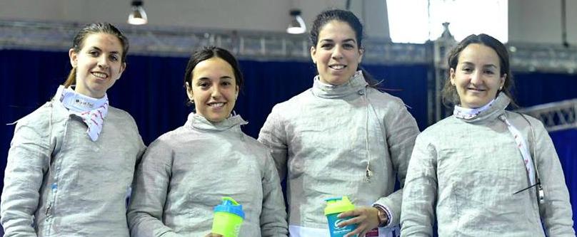 Equipo español de sable femenino en Tiflis / Foto: FIE