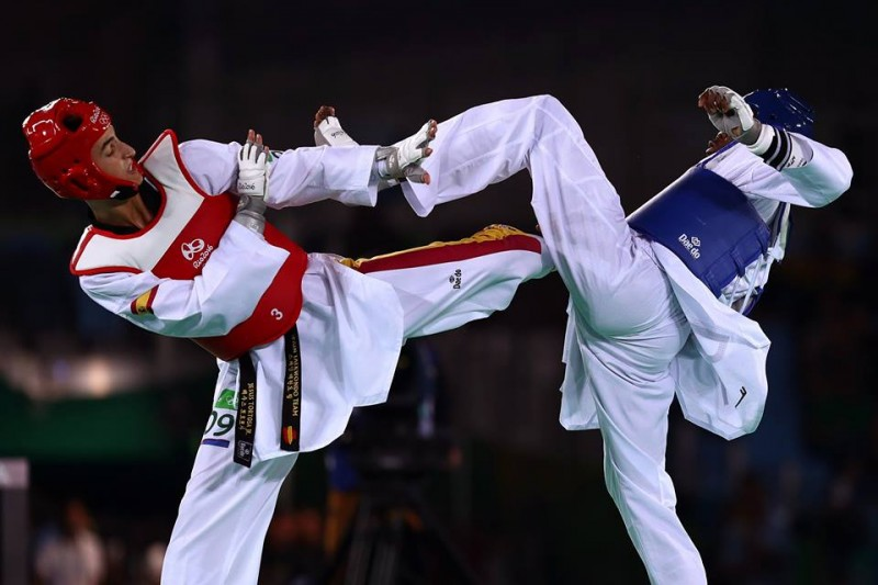 Jesús Tortosa en un combate / Foto: Olympic
