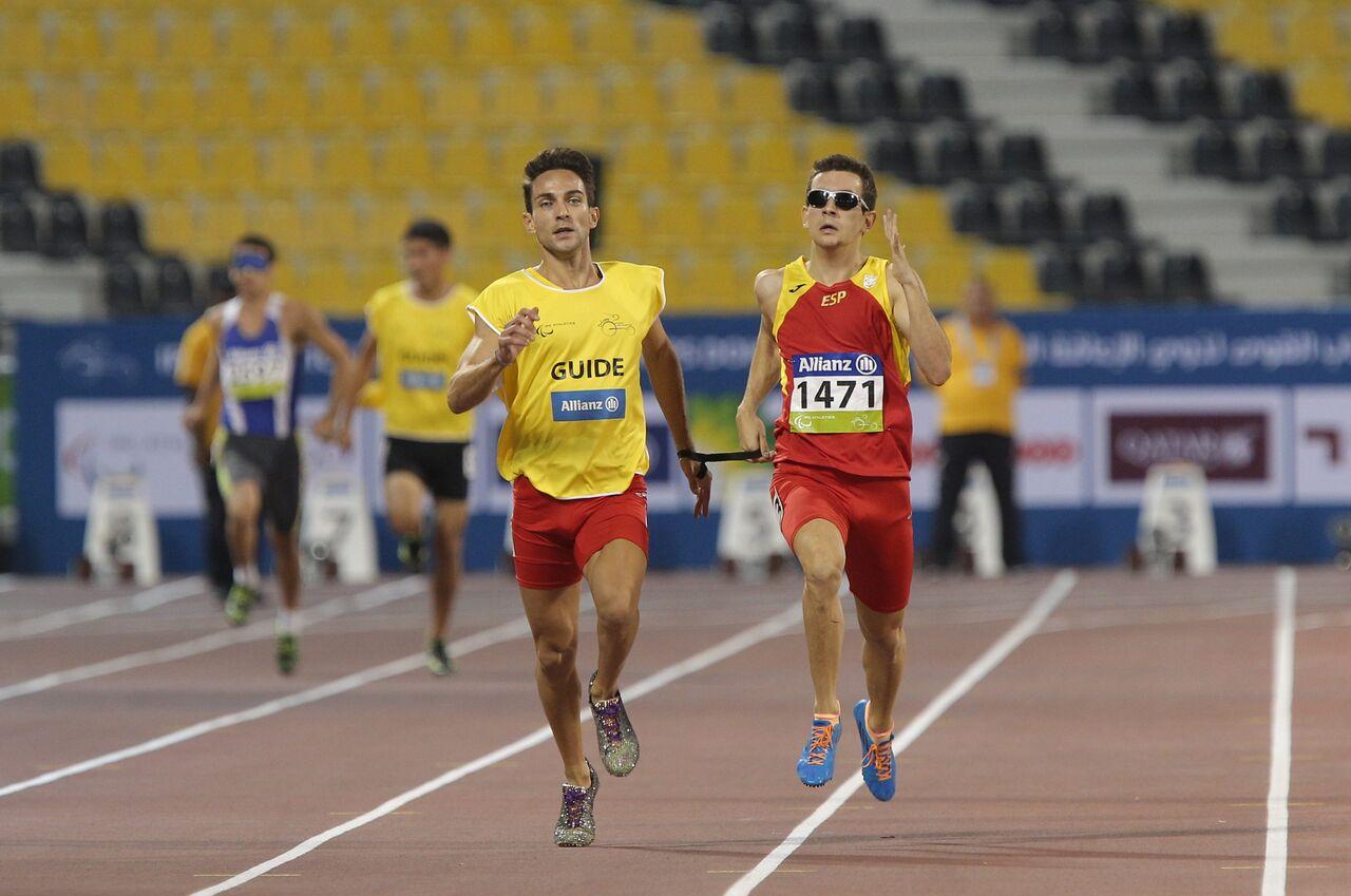 Blanquiño y Descarrega en una carrera. Fuente: CPE