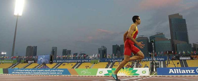 El velocista balear Joan Munar conquista la medalla de bronce en el Mundial de Londres. Fuente: AD
