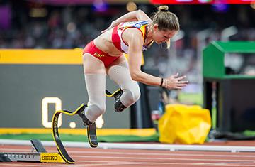 Sara Andres Barrio logra el bronce en los 400 metros T44 en el Mundial de Londres. Fuente: CPE