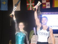 Ana Pérez y Rubén López, campeones de España de gimnasia artística