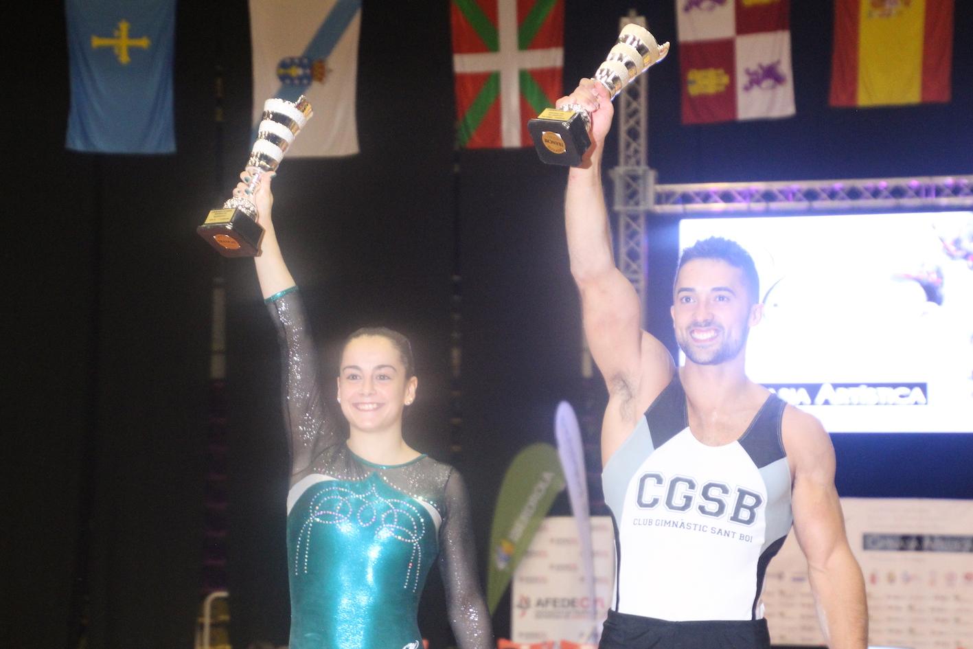 Los gimnastas Ana Pérez y Rubén López. Fuente: Rfeg