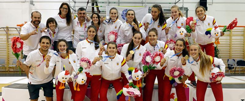 Medallista españoles en Foje. Fuente: COE/Nacho Casares