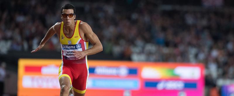 El velocista español Joan Munar durante su competición en el Mundial de Londres. Fuente: CPE