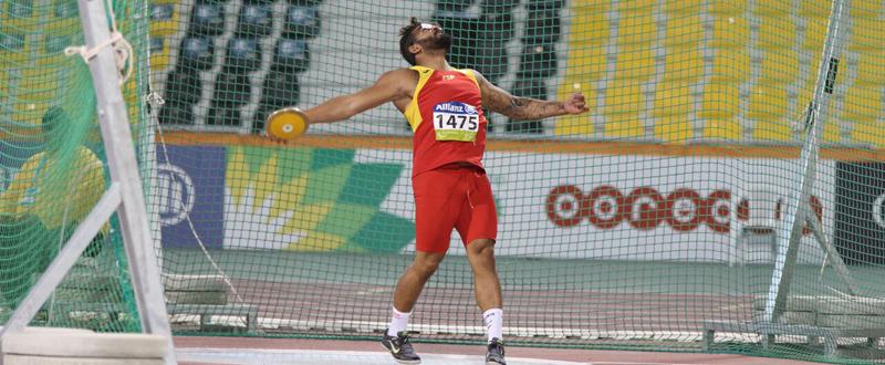 El lanzador de disco Kim López logra la medalla de bronce en el Mundial. Fuente: CPE