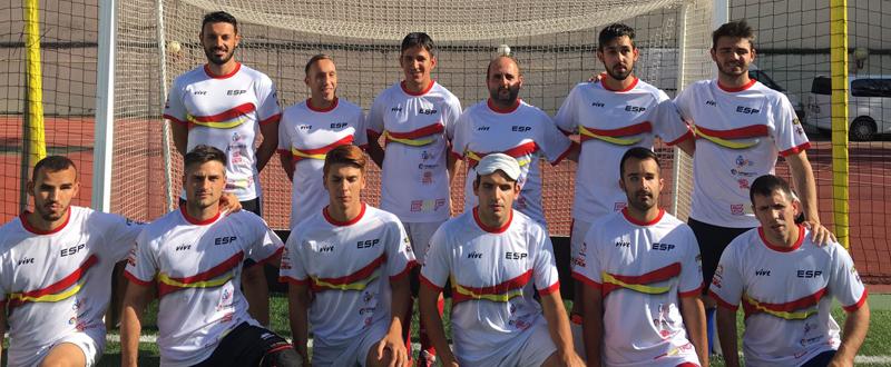 Los integrantes de la selección española de fútbol para ciegos que acudirá al Europeo. Fuente: AD