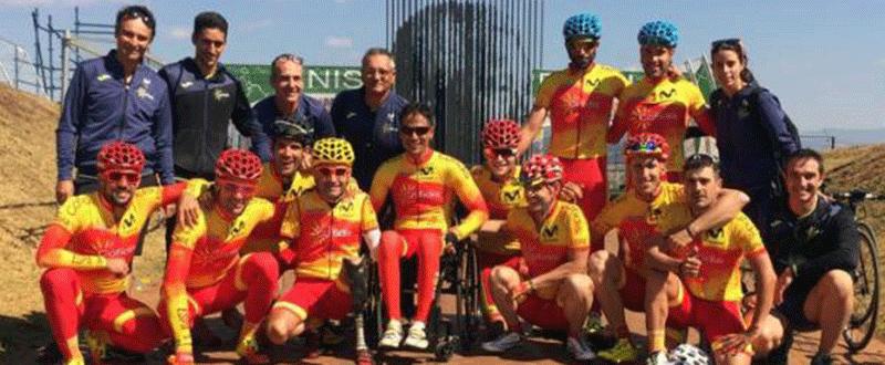 Equipo de ciclismo paralímpico español. Fuente: CPE