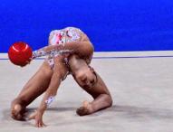 Álvaro Pradas y Polina Berezina, campeones de España de Gimnasia Rítmica