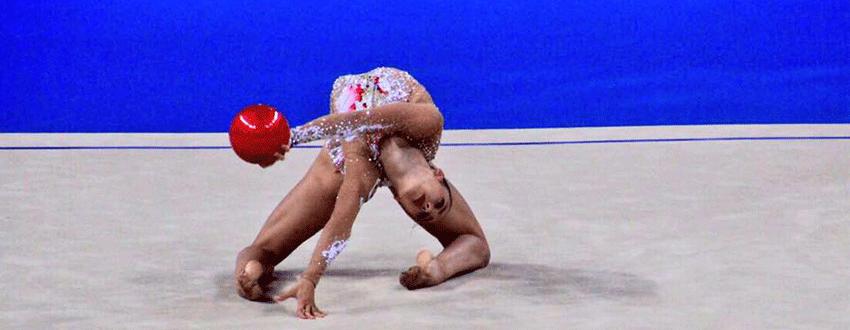 La gimnasta española Polina Berezina. Fuente: Rfeg