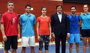 Carolina Marín y Pablo Abián, afinando para el mundial