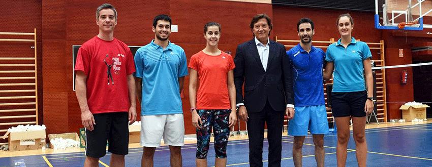Fernando Rivas, Quique Peñalver, Carolina Marín, José Ramón Lete, Pablo Abián y Clara Azurmendi. Fuente: CSD