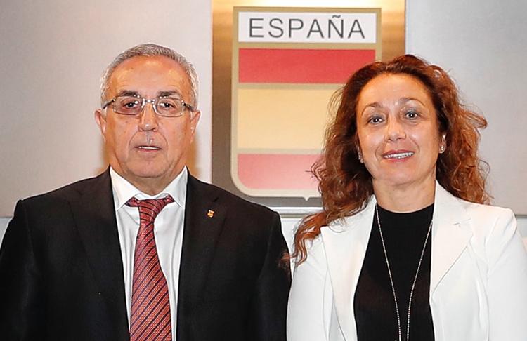 Alejandro Blanco y Victoria Cabezas. Fuente: COE