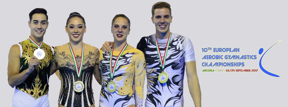 Medallista gimnasia acrobática. Fuente: Rfeg