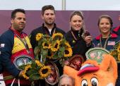 Bea Martínez y Antonio Bailón, subcampeones mundiales de foso olímpico mixto