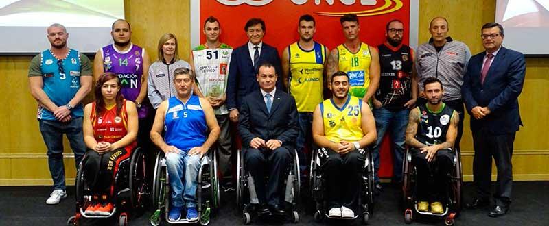 Presentación de la liga de baloncesto en silla de ruedas. Fuente: CSD