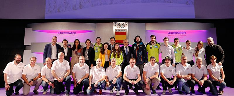 Equipo español para Pyeongchang 2018. Fuente: COE/Nacho Casares