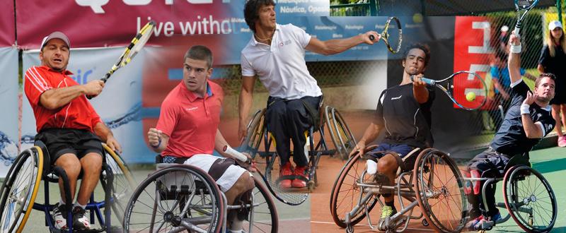 Tenis en silla. Fuente: AD