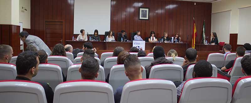 Mesa redonda sobre Violencia de Género en la UMA. Fuente: Avance Deportivo/Toñi Jiménez