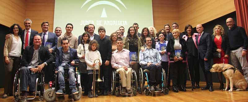 Premiados en la XV Gala del Deporte Adaptado en Sevilla. Fuente: Junta de Andalucía