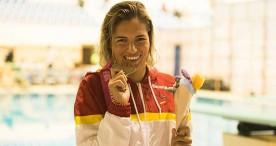 Nuria Marquéz, Michelle Alonso y Teresa Perales, primeras medallistas