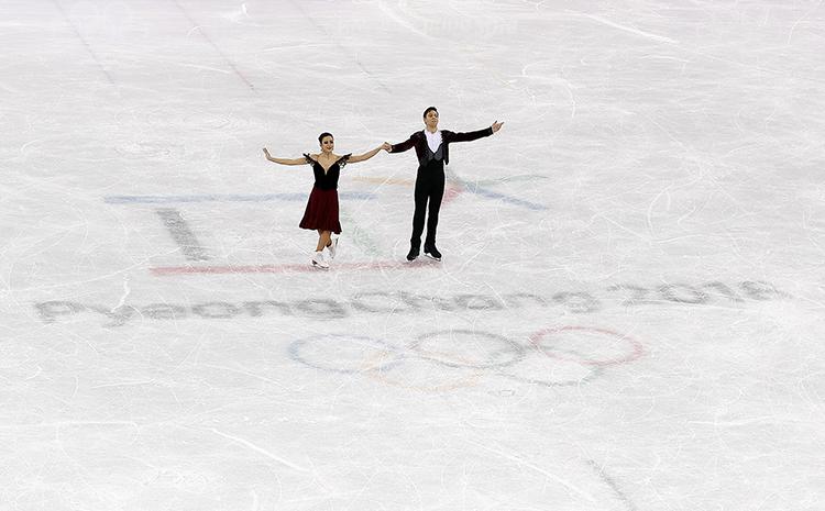 Sara Hurtado y Kirill Khaliavin en PyeongChang2018. Fuente: COE/Nacho Casares