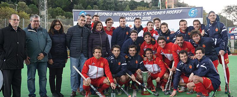 La selección española masculina de hockey hierba en Málaga. Fuente: Rfeh
