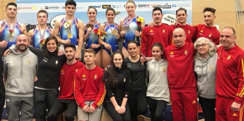 Equipo español de gimnasia. Fuente: Real Federación Española Gimnasia