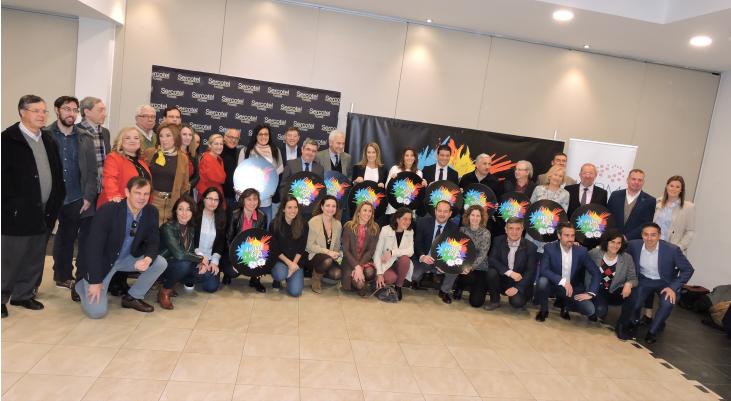 Foto de los participantes en el acto. Fuente: Avance Deportivo