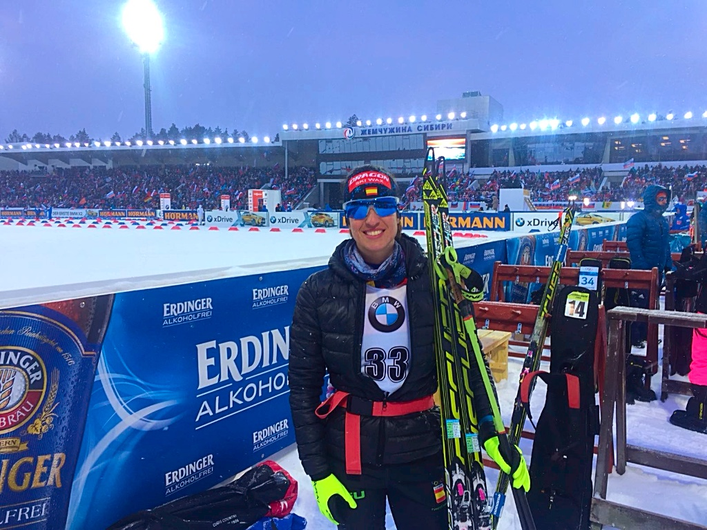 Victoria Padial en la FINAL de la IBU WORLD CUP Biathlon celebrada en Tyumen