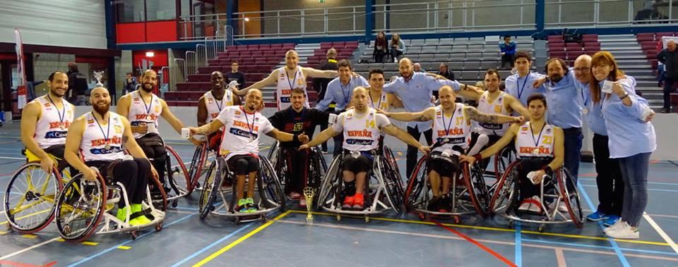 La selección española de baloncesto en silla de ruedas. Fuente: Feddf