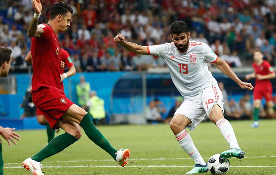 Portugal vs España en Rusia 2018. Fuente: Rfef