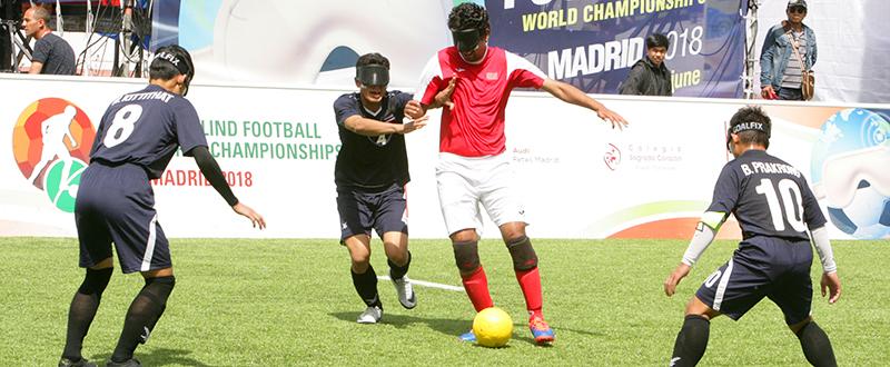 Marruecos vs Tailandia en el Mundial de Fútbol Sala para Ciegos. Fuente: CPE