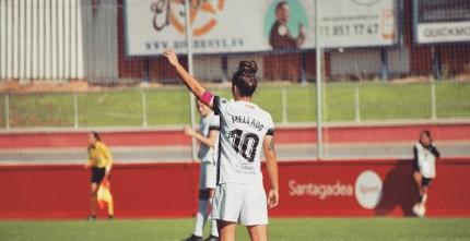 Alba Mellado en un partido