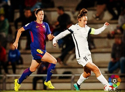Alba en el partido ante el Barcelona