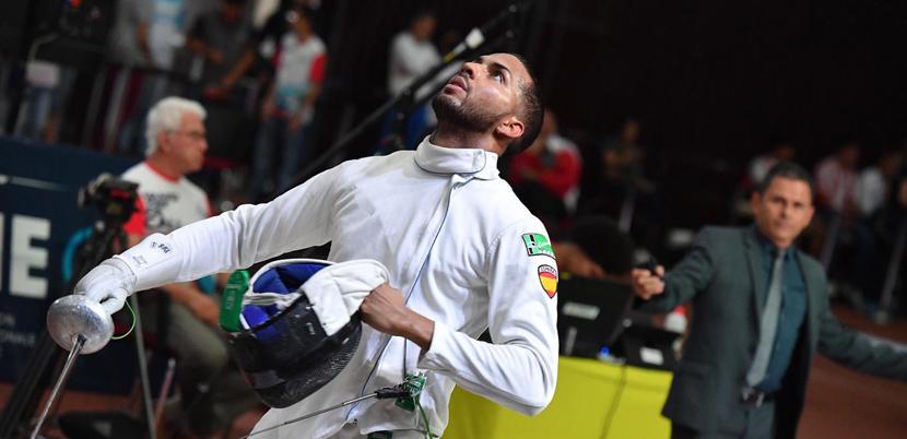 El esgrimista español, Yulen Pereira, durante una competición. Fuente: AD