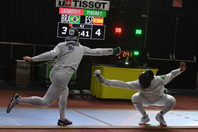 Yulen Pereira durante un combate. Fuente: AD
