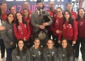 El equipo de gimnasia artística femenina, preparado para el Europeo de Glasgow
