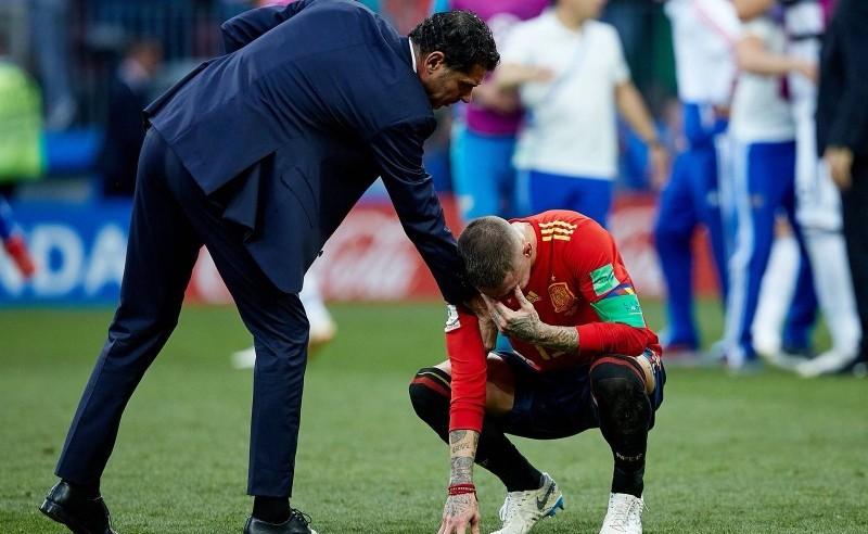 Sergio Ramos llora. Fuente: Sefútbol
