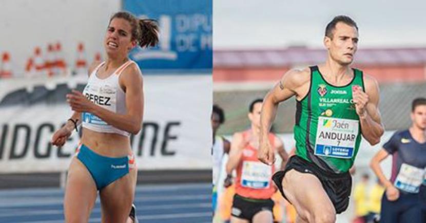 Los atletas Marta Pérez y Daniel Andújar lograron la mínima para el Europeo en los 800 metros. Fuente: RFEA