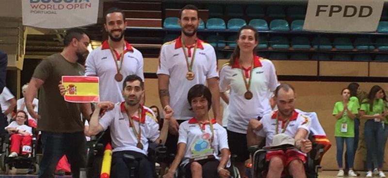 El equipo español de boccia en categoría BC3 logra un bronce en el Open Mundial. Fuente: FEDPC
