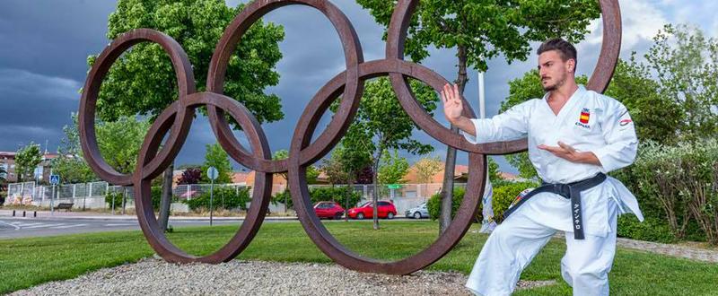 El karateca malagueño Damián Quintero fija su próximo objetivo en el Mundial y en los Juegos de Tokio. Fuente: AD