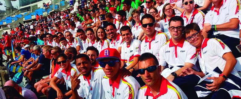 El equipo nacional de deportistas con discapacidad intelectual. Fuente: CPE
