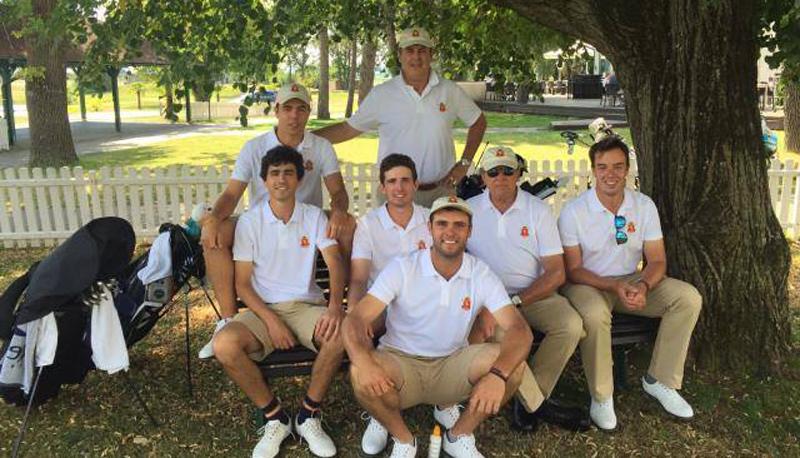 El equipo español de golf en el Europeo