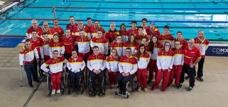 Los nadadores que participaron en el campeonato del mundo de México 2017. Fuente: CPE