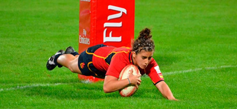 La capitana de las 'leonas' de rugby seven español. Fuente: AD