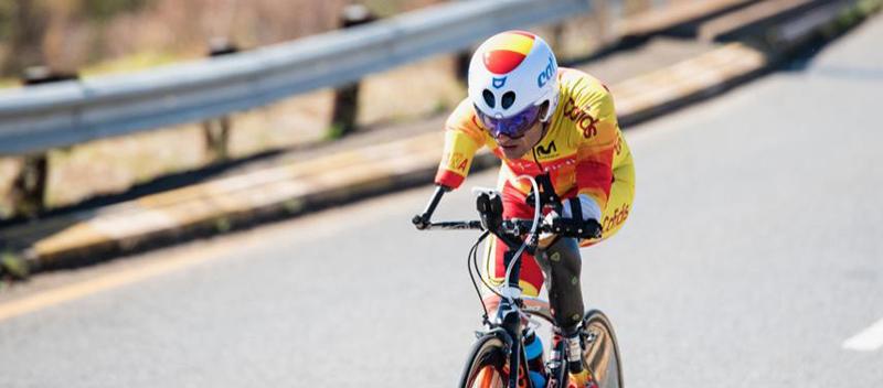 El ciclista valenciano, Ricardo Ten, logra la medalla de plata en ruta. Fuente: RFEC
